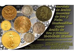 Compramos Monedas de Plata y Oro, y Billetes. Mejor precio!!