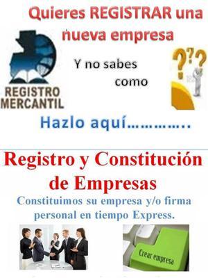 CONSTITUCION DE EMPRESAS EN 8 DIAS. FIRMAS PERSONALES.
