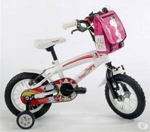 Bicicleta niños rin 12 Blanca, negra y roja, SNOOPY