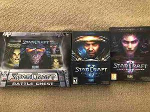 3 Juegos Originales Starcraft En Caja Y Licencia