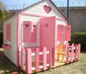 Casa Niñas Juguete Madera Jardines Parque Preescolares