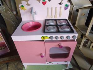 Cocina De Juguete Para Niños En Madera Cocinitas
