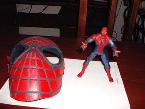 Juguete Y Máscara Del Hombre Araña De 15 Cm De Coleccion