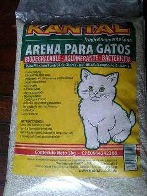 Arena Para Gatos Kantal Absorbente,bactericida Y Biodegradab
