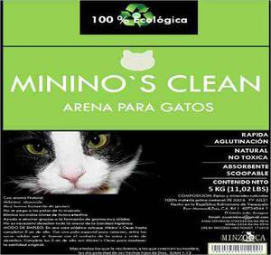 Arena Para Gatos Mininos Clean 5 Kg