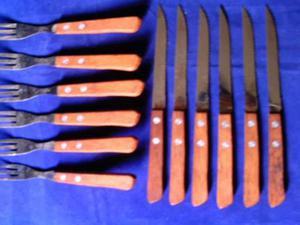 Juego De Cubiertos Parrilleros /6 Tenedores Y 6 Cuchillos