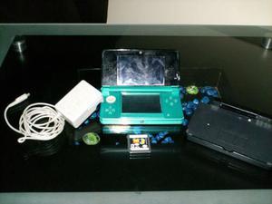 Nintendo 3ds Azul Aqua Original Con Juego