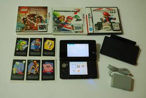 Nintendo 3ds + Cargador + 3 Juegos + Memoria Sd