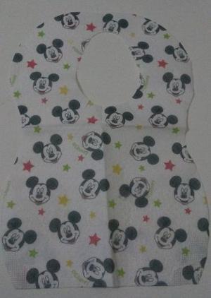Baberos Desechables Para Bebes Empaque De 5 Nuevos Mickey