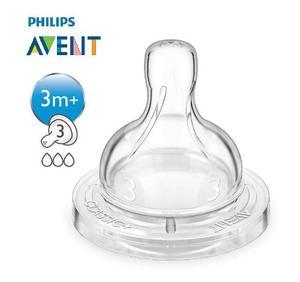 Set De 2 Tetinas Philips Avent Clasico Diferentes Flujos 3m+