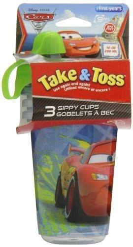 Set De 3 Vasos Cars Niños Escolar Take & Toss