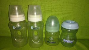 6 Teteros Bebe Mamila Usados Tal Cual La Fotografía