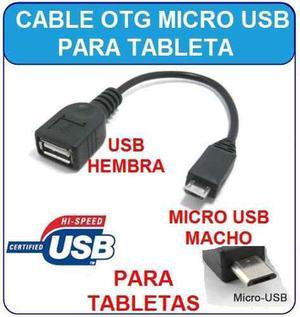 Cable Otg Micro Usb Macho A Usb Hembra (v9)