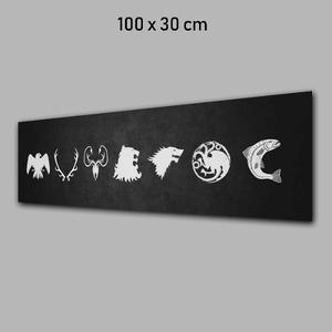 Fotografia Juego De Trono Enbanner O Lona 100x30cm
