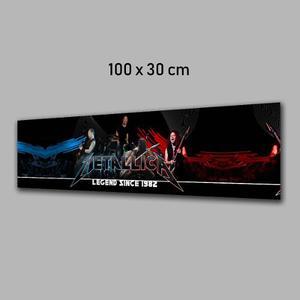 Fotografia Metallica Rock Impresa En Banner O Lona 100x30cm