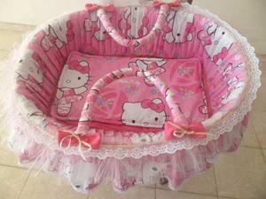 Moisés Para Niña Recién Nacidas Con Motivo De Hello Kitty