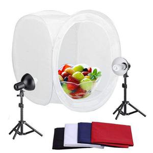 2 Cajas De Estudio Fotográfico Con Fondo De Cubo. 43 Y 76cm