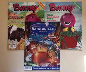 2 Revistas De Barney Actividades Y 1 Revista De Ratatouille