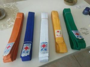 5 Cinturones De Karate Talla 3, Impecables
