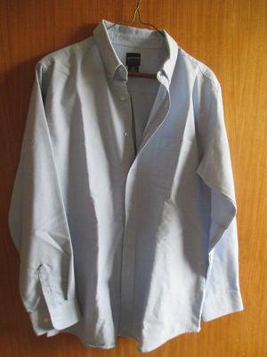 Camisa Arrow Azul Clara Manga Larga. Usa Talla 20 55%algodon