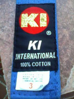 Cinturón Azul De Karate, Talla 3