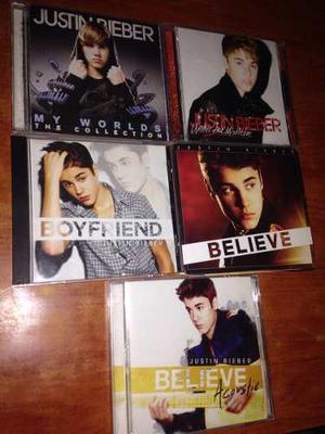 Colección De Cd's Justin Bieber Original