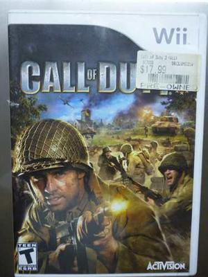 Juego Call Of Duty 3 Para Wii. Original.