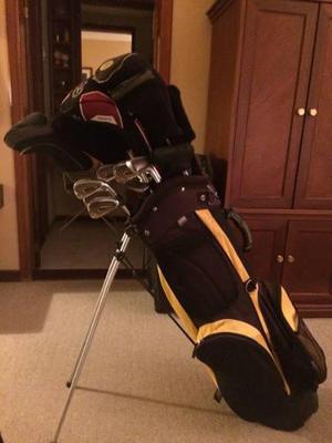 Juego Variado De Palos De Golf Con Bolso
