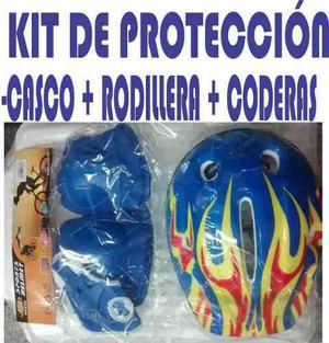 Kit De Proteccion Patines Patineta Bicicleta Regalo Navidad