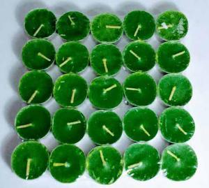 Mini Velas Flotantes Color Verde Manzana