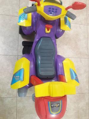Moto Electrica Usada Para Niños. Funcional Con Bateria De