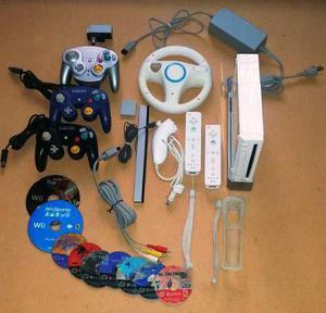 Nintendo Wii Con 2 Controles Y Accesorios