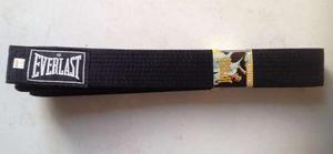 Obi Cinturon Negro Everlast 280 Cm Artes Marciales Judo