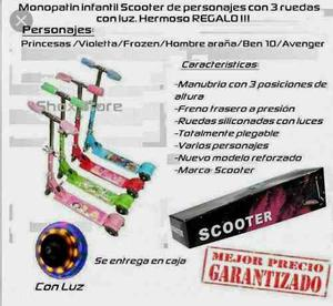 Oferta Monopatines Scooter 3 Ruedas Mayor,tienda Fisica