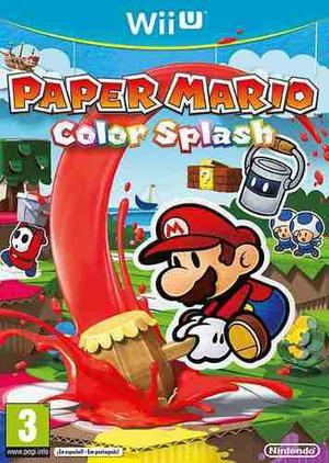 Paper Mario: Color Splash Juegos Digitales Para Wii U