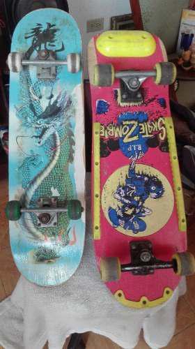 Patineta Skate Zombies 77 X 24 Cm Y Patineta 80 X 20 Cm Usad