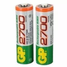 Pilas Baterias Gp Recargables Doble Aa De 2700 Mah Ng
