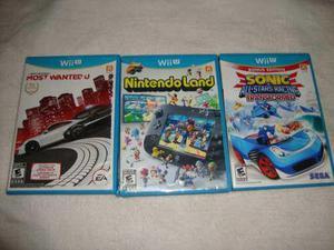 Wii U Combo De 3 Juegos Fisicos Oferta Imperdible!