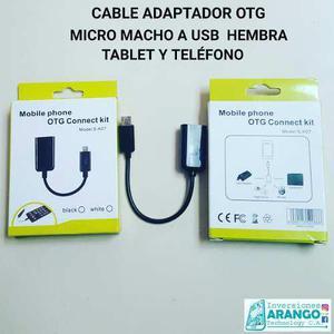 Adaptador Otg Macho Micro A Hembra Usb Tablet Y Teléfono