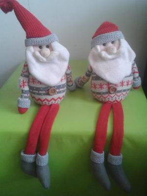 Adornos De Navidad Patas Largas. Muñeco De Santa