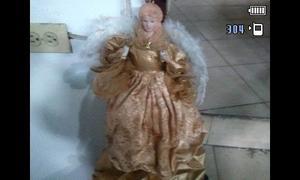 Angel De La Navidad Punta Del Arbol