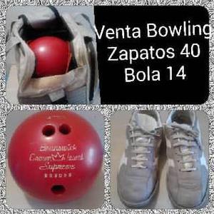 Bola De Bowling (Combo Bola, Zapatos, Bolsa Y Maletin)