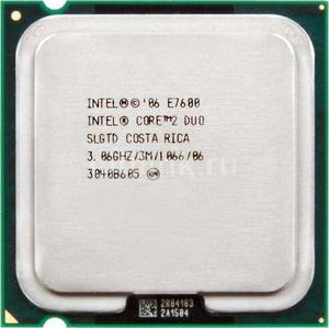 Cpu Intel Core 2 Duo E7600 3.06 Ghz, 1066 Mhz S775