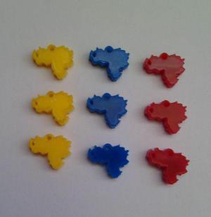 Dijes Bisuteria Mickey Mouse. Mapa De Venezuela 1cm.