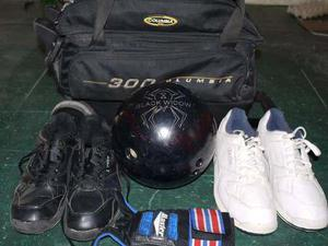 Kit De Bowling, Bola, Zapatos Y Guantines