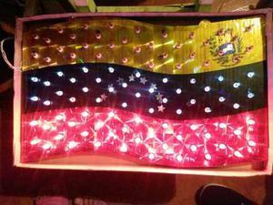 Luces De Navidad Ventana Balcon Puerta Bandera