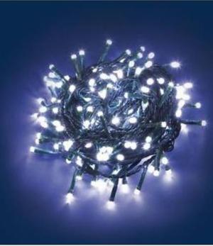 Luces Led Navidad 100 Bombillos Cable Verde Y Transparente