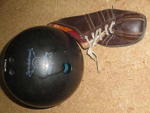 Pelota De Bowling Con Bolso, Funda Y Zapatos Talla 41.