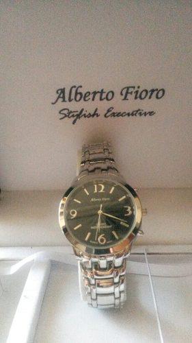 Reloj De Acero Para Caballero Alberto Fioro(sin Caja)