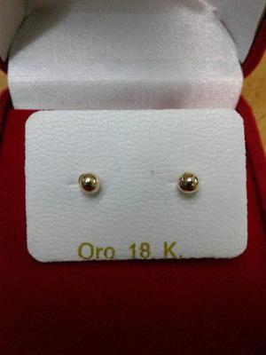 Zarcillos Abridores Para Bebe De Oro 18kl